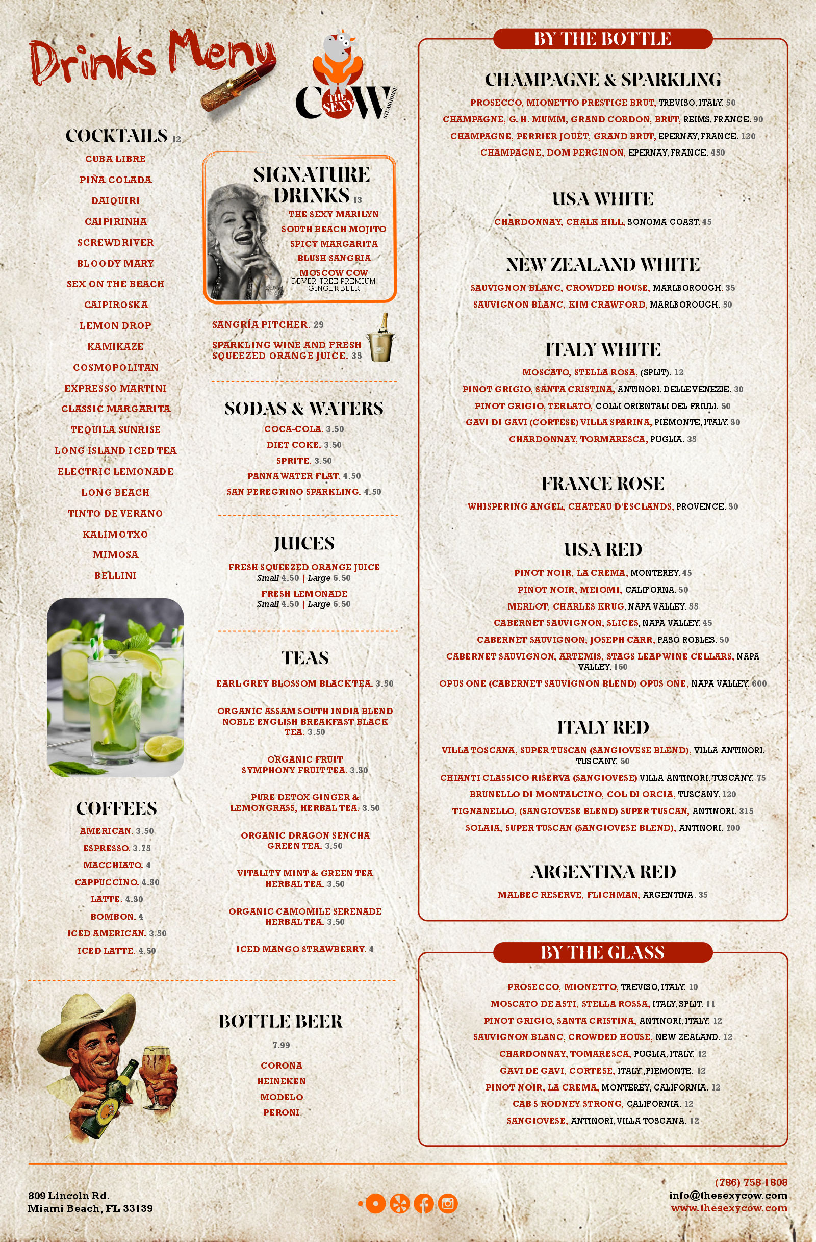 The Sexy Cow All Day Menu June 2021 P2